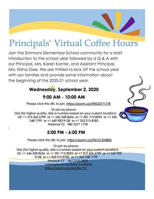 Principals' Virtual Coffee Hours